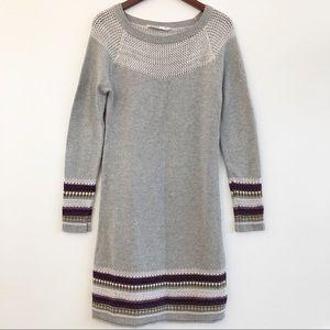 ATHLETA Fair Isle Striped Sweater Dress SZ M